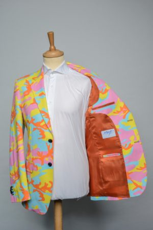Sweet Camo Jacket Funky Pink Printed Geel Blauw Roze Camouflage Blazer Lining