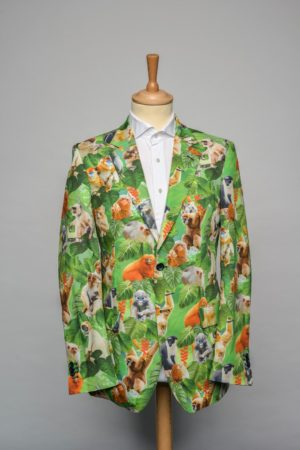 monkeybusiness-jacket-funky-print-dier-aap-bos-oerwoud-jungle-groen-oranje-blauw-forrest-animal-blazer-front