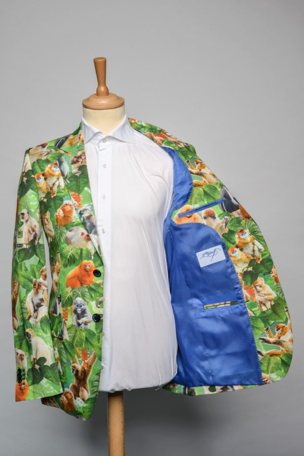 monkeybusiness-jacket-funky-print-dier-aap-bos-oerwoud-jungle-groen-oranje-blauw-forrest-animal-blazer-lining